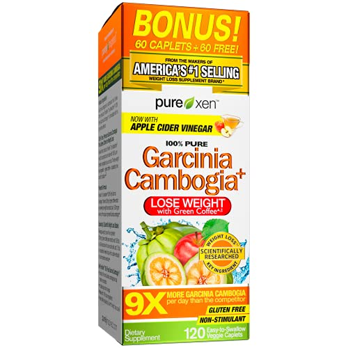 Garcinia Cambogia Weight Loss Pills for Women & Men | Purely Inspired 100% Pure Garcinia Cambogia | Green Coffee Bean Extract & ACV | Weight Loss Supplement Pills | Weight Loss Products | 120 Pills