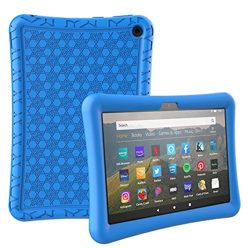 Surom Silicone Case for All-New Amazon Fire HD 8/ HD 8 Plus (10th Generation,2020 Release), Light Weight Shock Proof Protective Soft Silicone Kids Friendly Back Case for All-New Fire HD 8 Tablet, Blue