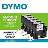 5 x Dymo D1 45013 (S0720530) Standard Nastr1 12 mm x 7m nero su bianco
