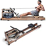 Tahoe Water Rowing Resistance Machine with LCD Monitor Display, Health and Fitness Rower for Whole Body Cardio Training, Home Gym Exercise