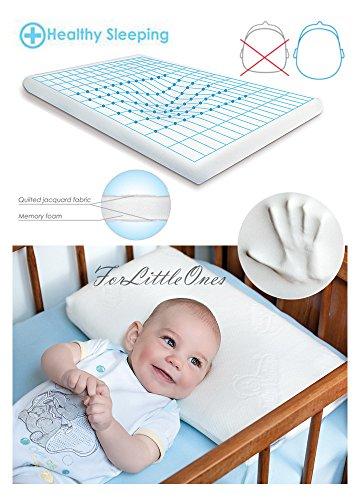 BabyMatex ** MEMO Thermoaktives Babykopfkissen inkl. Bezug ** Antiallergisches MEMORY FOAM Kopfkissen...