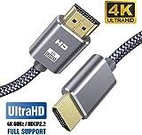 Cavo HDMI 4K 2 Metri SUCESO Cavo HDMI 2.0 a/b ad alta Velocità Cavi HDMI Ultra HD Supporta Ethernet 4K 60Hz HDR 2.0/1.4a,ARC,Video UHD 2160p,HD 1080p,Full HD, 3D, Xbox,PS3,PS4,TV, Computer e Monitor