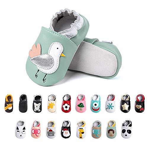 Chaussures Bebe Fille Garçon Premier Pas Chaussons Enfant Antidérapants Souple Cuir PU Pantoufles Animaux Chaussettes Semelle Bottines-2 XN 6-12 Mois