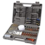 GLORYFIRE Gun Cleaning Kit Elite Designed, Rifle Handgun Shotgun Pistol Cleaning Kit with All Brass High-end Brushes, Mops, Jags, Reinforced and Lengthened Rods Guns