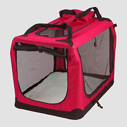 AVC Portable Soft Fabric Pet Carrier Folding Dog Cat Puppy Travel Transport Bag (Extra Large,...