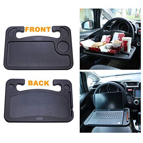 Bandeja de dirección multifunción Toolwiz, cubierta del volante automática Bandeja de alimentos portátil para bebidas, soporte para clip de soporte de escritorio de portátil, escritorio de lectura