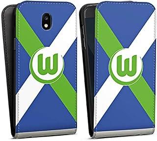 DeinDesign Flip Case kompatibel mit Samsung Galaxy J5 2017 Tasche Hülle VFL Wolfsburg Offizielles Lizenzprodukt Bundesliga