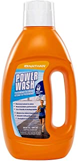Nathan Power Wash Detergent, Natural Sport Detergent for Active Wear, Sports Equipment, Gets Rid of Odors & Stains