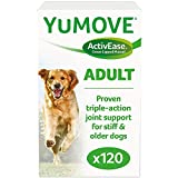 Lintbells | YuMOVE Dog | Essential Hip and Joint Supplement for Stiff Dogs Aged 7 to 8 | 120 Tablets