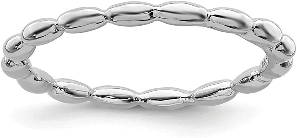 Roy Rose Jewelry Sterling Silver Stackable R Expressions Online limited Max 88% OFF product Rhodium