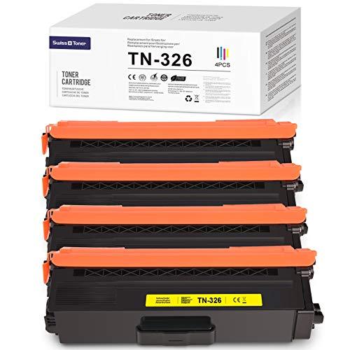 SWISS TONER 1 juego de cartuchos de tóner TN-326 para Brother MFC-L8650CDW HL-L8250CDN HL-L8350CDW MFC-L8850CDW MFC-L8600CDW DCP L8400CDN DCP L8450CDW HL-L8250CDW HL-L8350CDWT