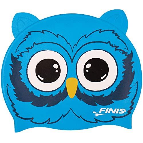 Finis Heads Owl Bonnet de Bain Motif têtes d'animaux, Mixte, Gris, Taille Unique