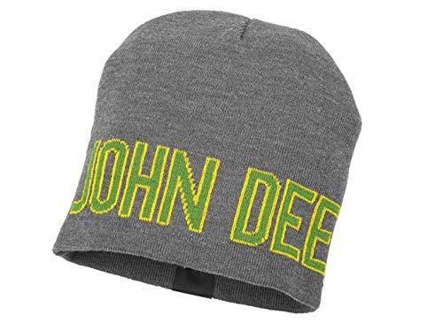 John Deere - Gorro de punto - para hombre Gris Grau Grün Gelb Talla única