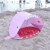 GJF Baby Strandzelt,Automatisch Pop-up Baby Strand Zelt Portable Shade Pool UV-Schutz Sun Shelter für Kleinkinder, Strandmuschel,Baby Pool-pink