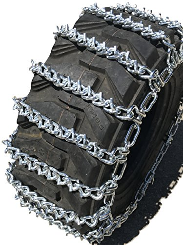 TireChain.com 13.6-16, 14-17.5 Two-Link V-BAR Tractor Tire Chains Set of 2