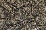 Baumwollstoff mit Leopartenmuster, braun, aus dehnbarer