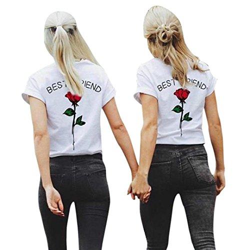 Camisas Mujer, ❤️Xinan Las Letras del Mejor Amigo de Las Mujeres s