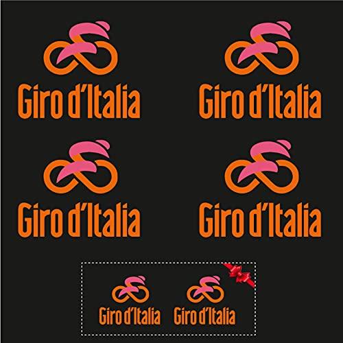 Sticker Mimo Pegatinas de Giro d'Italia para bicicleta, moto, casco, coche, pasión, ciclismo, color naranja (50 cm)