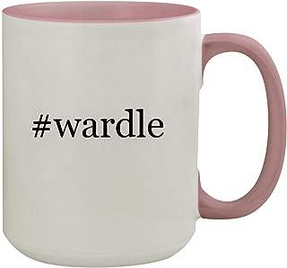 #wardle - 15oz Hashtag Colored Inner & Handle Ceramic Coffee Mug, Pink