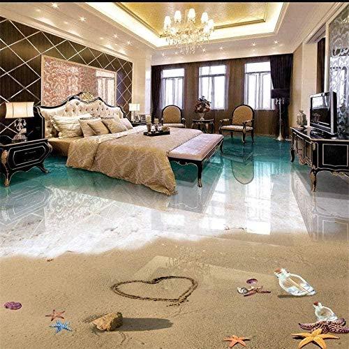 Coole 3D Wallpaper Wandaufkleber Romantisch Schöne Beach Seascape 3D Floor Wallpaper Wand 400x280cm