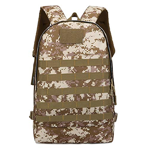 Tactical Backpack Military Grade Waterproof Tear Resistant Material Large Survival Rucksack Multifunction MOLLE Assault Bag for Various Outdoor Sports Adlereyire ( Color : Brown , Size : 32*15*47cm )