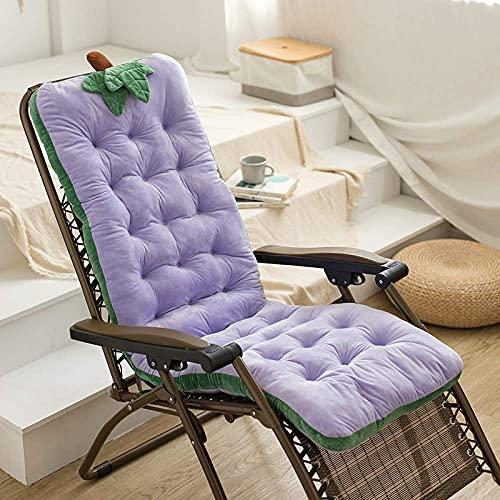 Recliner Chair Cushion Seat Pad Ersatzkissen Pad für Gartenbank Sun Lounger PurpleGrape-100x50x10cm