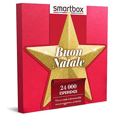 smartbox - Cofanetto Regalo per Uomo o Donna - Buon Natale - Idee Regalo Originale - Magici soggiorni o gustose cene o 1 Trattamento Benessere o 1 attività Sportiva per 1 o 2 Persone