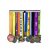 JIN Maratón Trofeos Deportivos y medallas, Jinetes de triatlón suspendidos, Bandeja de aliados 12 Trofeos Restos Marco con Cremallera Regalo para niños Regalo de San Valentín en Boston
