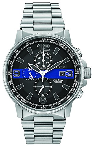 Citizen Men's Thin Blue Line Watch Chronograph 200M WR Eco Drive CA0291-59E