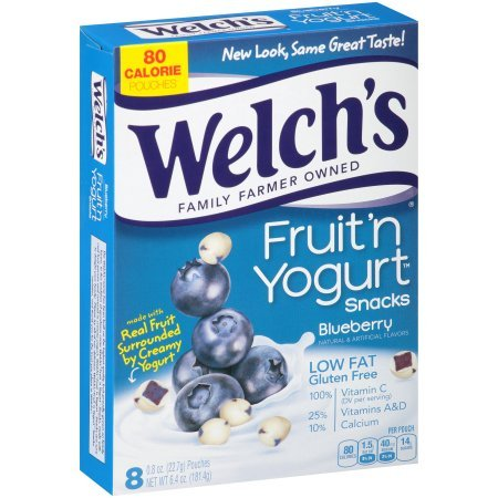 Welch's Blueberry Fruit 'n Yogurt Snacks 6.4oz, one box