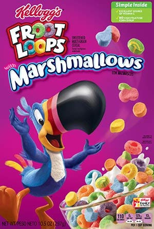 Kelloggs Froot Loops with Marshmallows 297g - Fruit Loops …