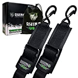 RHINO USA Boat Trailer Transom Straps (2PK) - Heavy Duty 2 inch x 48 inch Adjustable Straps for Trailering - Ultimate Marine Tie Downs Accessories for Boating Safety - Guaranteed for Life