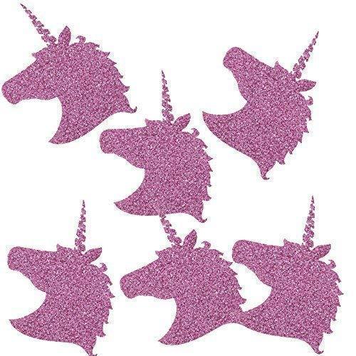 TE-DecoArt 12 Textil Patch Aufbügler Aufbügelflicken Applikation Einhorn lila Glitter zum Selber...