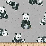 Robert Kaufman 0676087 Kaufman Cuddly Crew Flannel Panda