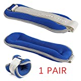Ankle Weight 1 Pair Wrist Weight, 0.25-4 kg Adjustable Wrist Strap for Fitness, Jogging, Walking, Exercise, Gym, Training/Blue,2x2kg