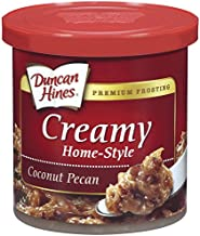 Duncan Hines Creamy Home-Style Frosting, Coconut Pecan, 15 Ounce (Pack of 8)