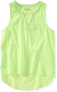 Aeropostale Womens Pocket Woven Tank Top