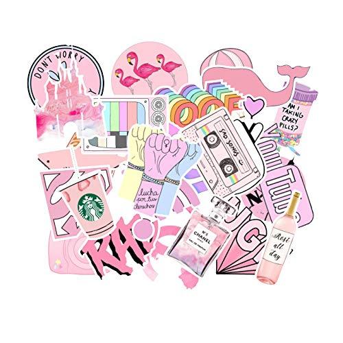 MBGM 100 unids rosa chica serie graffiti etiqueta maleta coche ordenador monopatín marea impermeable marca portátil taza agua