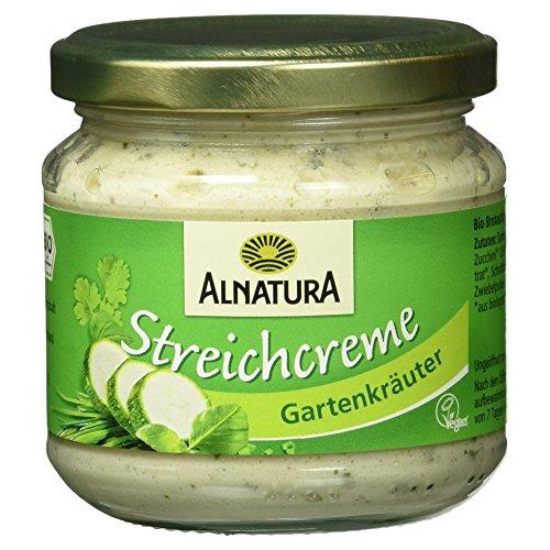 Alnatura Bio Streichcreme Gartenkräuter, vegan, 6er Pack (6 x 180 g)
