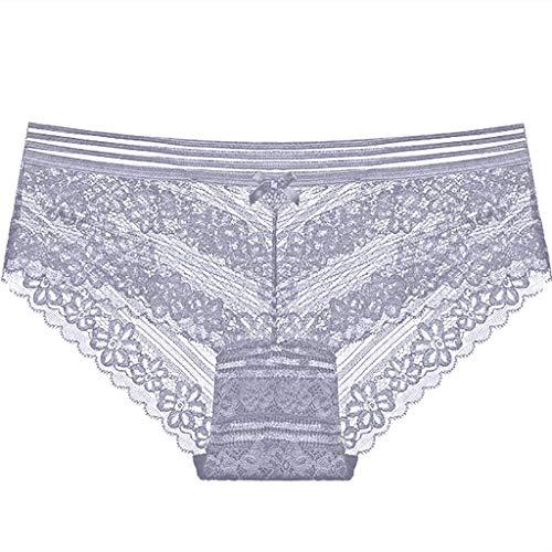 SpitzenhöSchen Niedrig Taillierte, Nicht Markierende Transparente Versuchung Damenslips Perspektivische Taille Und Hohle Sexy Unterwäsche Yebutt