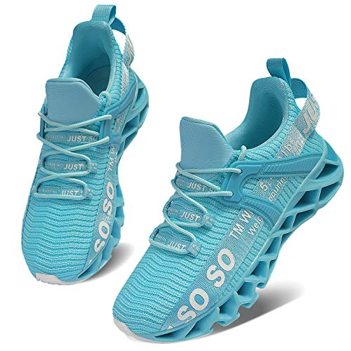Womens Athletic Walking Shoes Lightweight Tennis Sports Shoes Gym Jogging Slip On Running Sneakers