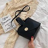 Mdsfe Vintage Fashion Female Tote Bucket Bag 2020 Nuevo Bolso de diseñador de Cuero de PU Mujer Bolsos de Hombro de Viaje - Negro, 26 X 13 X 19 CM