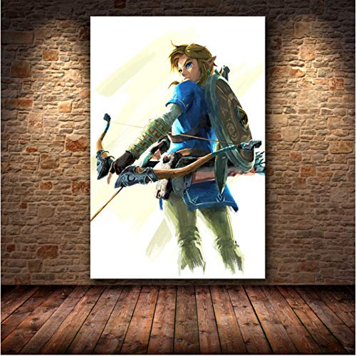 H/L The Game Poster Decor Painting Of The Legend Of Zelda: Breath Of The Wild On Hd Canvas Art Canvas Painting Poster 50X70Cm -Pd1046