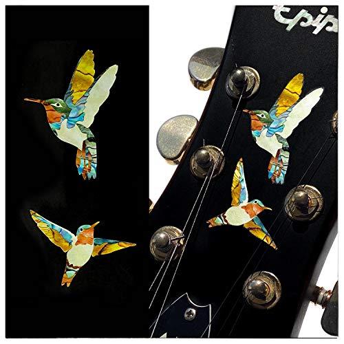 Inlay Stickers für Gitarren, Bass & Ukulelen – Dancing Hummingbirds -