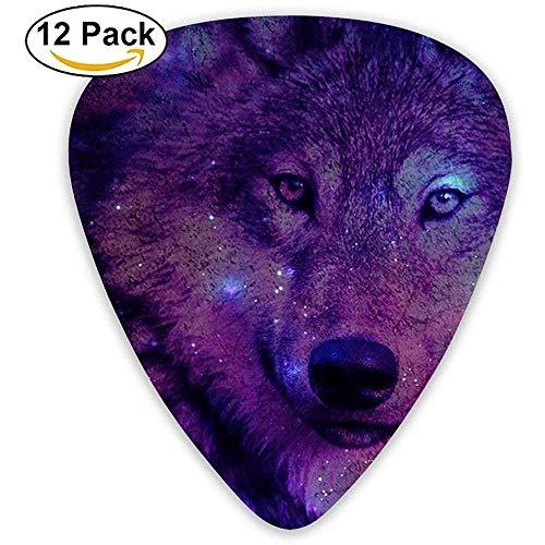 Sherly Yard 12er Pack Custom Gitarren Plektren Wolf Grafic Standard Bassgitarrist Music Gifts