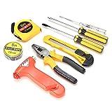llsdls Conjunto de herramientas de reparación de hogar de automóviles 9pcs auto automóvil herramienta de reparación de la herramienta de reparación de la combinación Herramienta de emergencia Mano Kit