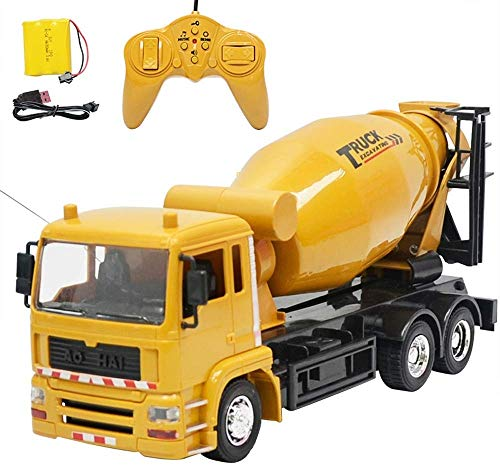 Bck RC Coagulation Cement Engineering Vehicle Remote Control Mixer Truck Children Toys Car Model,Best Outdoor Gifts for Children,Precise Control, Long Remote Control Distance,Remote Control Car