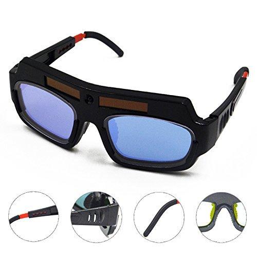 Bluedophin Solar Powered Auto Darkening Welding Mask Helmet Goggle Welder Glasses Arc PC Lens Great Goggles For Welding Protection