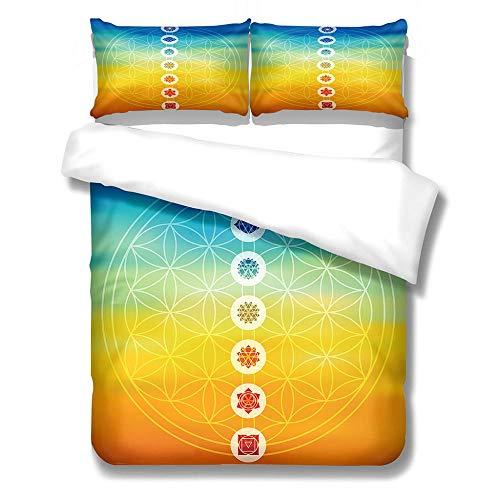 Kekeyt Duvet Cover Sets Mandala Pattern Bedding Set Grey Kingsize Duvet Cover Sets 3D Hd Printing 200 X 200 Cm-Cotton adult children's bedding-Cotton adult children's bedding