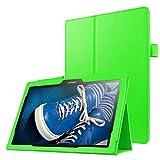 Caja Protectora de la Tableta Litchi Texture - Funda de Cuero de Color sólido con Flip Horizontal y Soporte for Lenovo Tab 2 A10-30 X30F y Tab 2 A10-70F, 10.1 Pulgadas (Negro) (Color : Green)